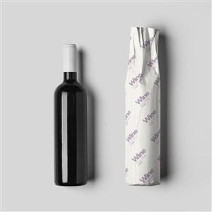 定制logo印刷红酒包装隔层纸样机