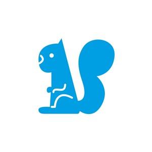 食品公司矢量logo素材松鼠矢量圖標