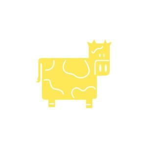 牛奶制品食品公司矢量logo素材奶牛矢量圖標