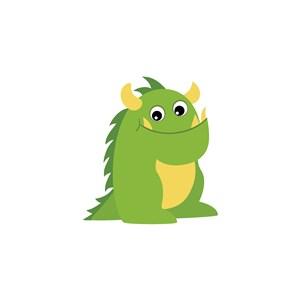 儿童玩具公司logo素材卡通恐龙图标