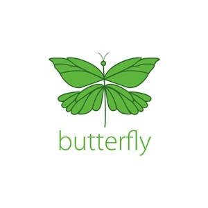 綠色蝴蝶矢量圖標美容醫療矢量logo設計素材