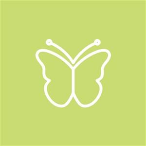 蝴蝶圖標護膚品矢量logo設計素材