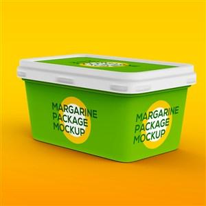 绿色冰淇淋包装样机贴图盒装冰淇淋样机模板