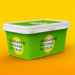 绿色盒装冰淇淋包装样机