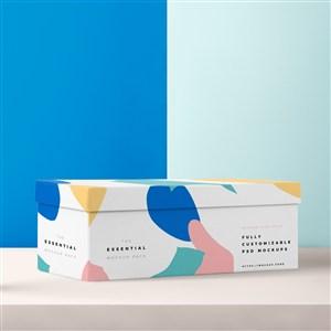 白底涂鴉包裝盒時尚包裝盒禮品盒樣機