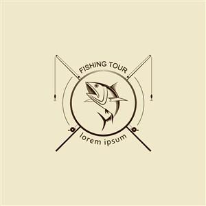 垂釣旅游矢量logo設計素材