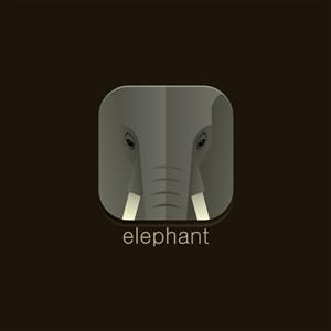 大象矢量圖標