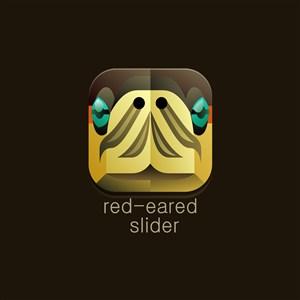 設計傳媒logo素材紅耳彩龜矢量圖標