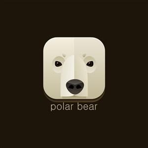 北極熊矢量圖標極地旅游矢量logo設計素材