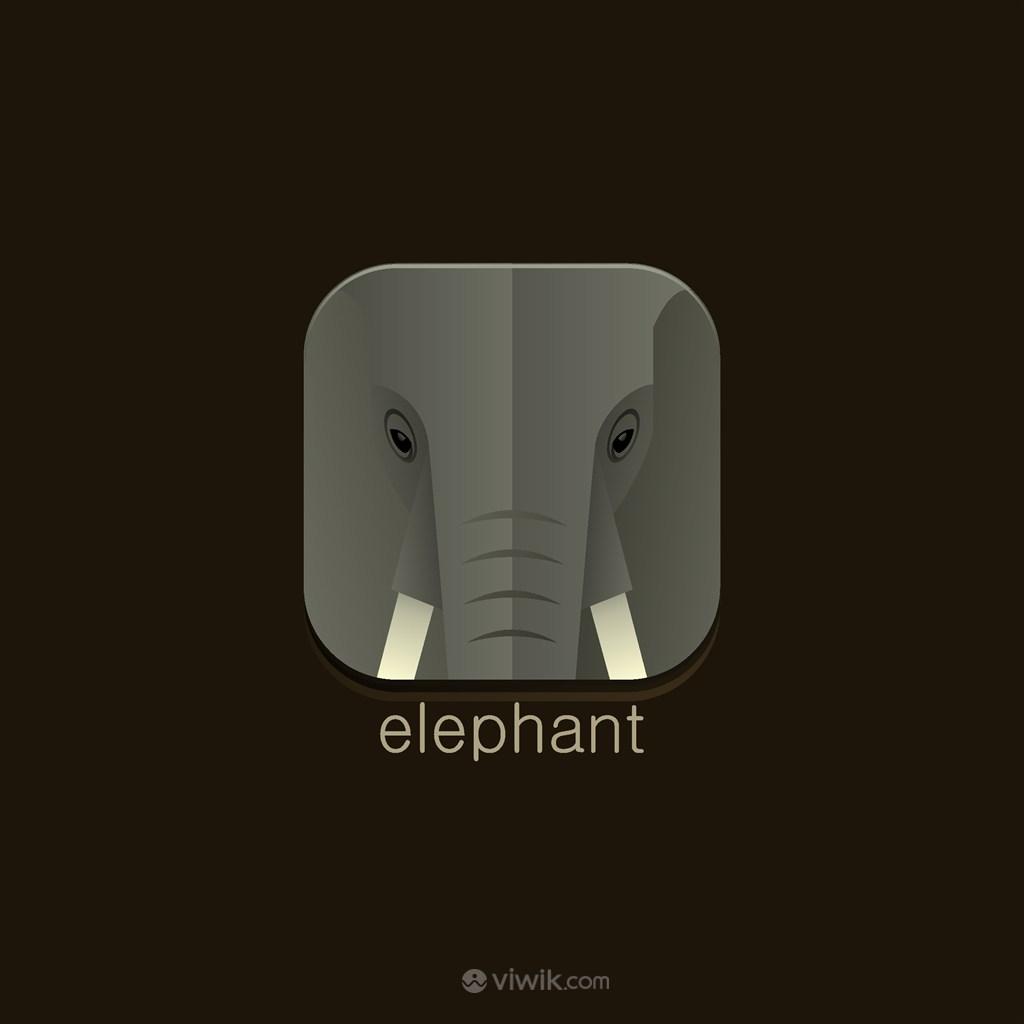 大象矢量LOGO圖標
