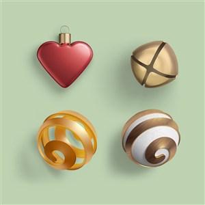 装饰品铃铛圣诞节样机素材