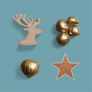 麋鹿铃铛星星样机素材圣诞节主题样机素材