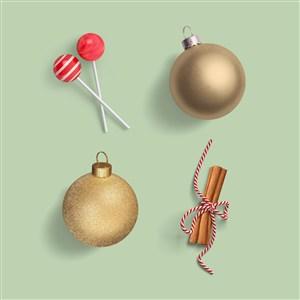 糖果铃铛蝴蝶结圣诞节样机素材