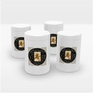白色复古铁罐密封茶叶包装样机