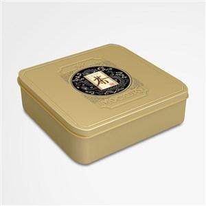 復古方形茶葉密封包裝鐵盒樣機