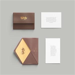 信封信纸邀请函样机素材