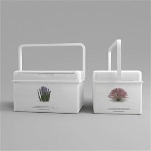塑料手提礼品包装盒样机