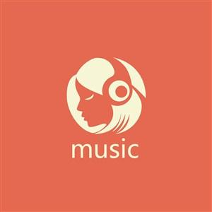 配音錄音棚矢量logo設計素材