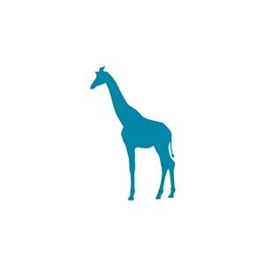 动物园矢量图标长颈鹿logo素材