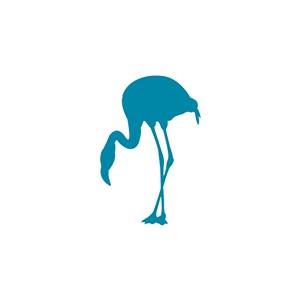 火烈鸟图标服装公司logo素材