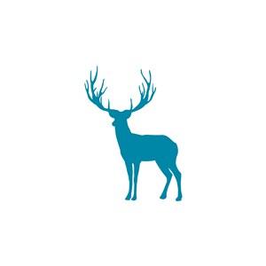 鹿图标休闲运动矢量logo设计素材