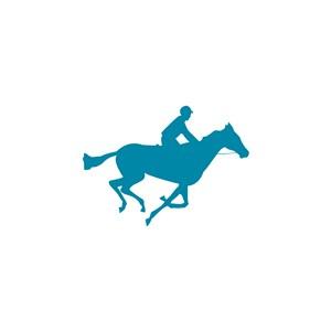 馬術俱樂部矢量logo設計素材騎馬圖標