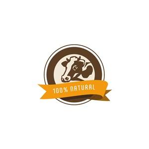 乳業公司牛乳制食品矢量logo設計素材
