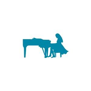 音樂學院音樂鋼琴培訓學校矢量logo設計素材