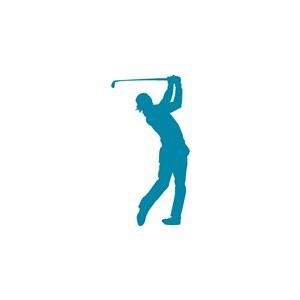 高爾夫俱樂部矢量logo設計素材