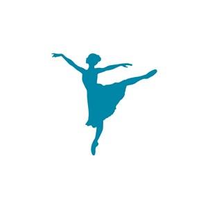 舞蹈培訓班表演舞蹈學院矢量logo設計素材