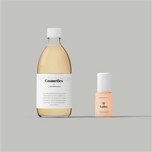 化妆品护肤品密封瓶样机素材