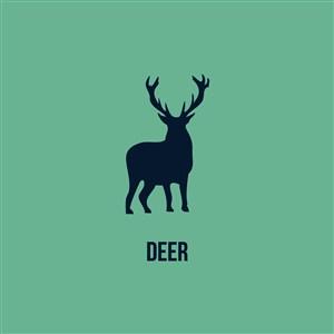鹿矢量图标服装公司logo素材