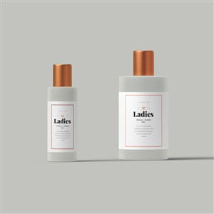 透明护肤品化妆品分装瓶样机素材