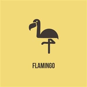 火烈鳥logo圖標服裝公司logo設計素材