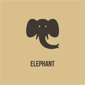 大象圖標商務貿易公司矢量logo素材