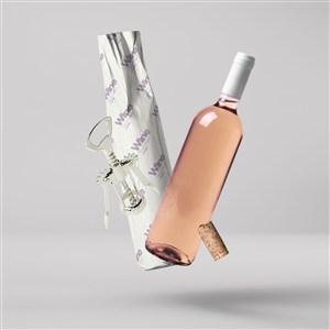 红酒包装定制logo印刷红酒包装隔层纸样机
