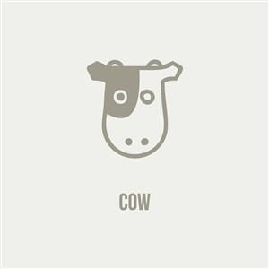 牛乳制食品乳業公司矢量logo設計素材