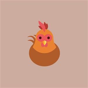 雞矢量圖標餐飲公司矢量logo設計素材
