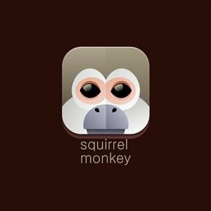 設計傳媒logo素材松鼠猴圖標