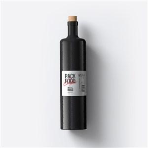 高档玻璃瓶红酒软木塞封口包装样机