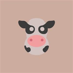 奶牛图标乳制品公司矢量logo素材