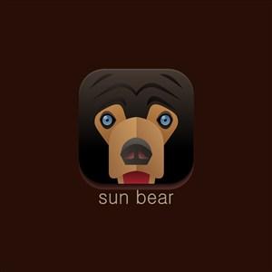 设计传媒logo素材熊矢量图标