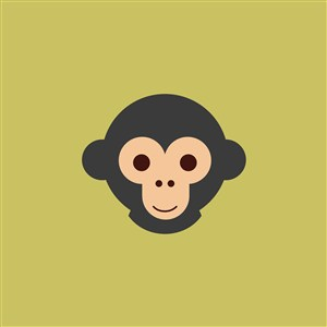 猴子圖標服裝公司矢量logo素材