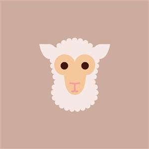 羊图标服装纺织公司矢量logo素材