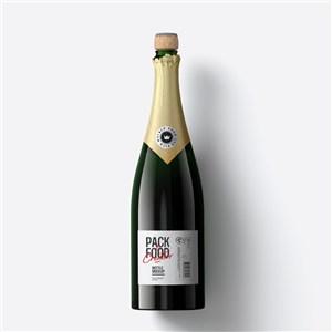 瓶子玻璃瓶酒瓶红酒瓶包装样机