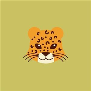豹子矢量圖標服裝公司logo素材