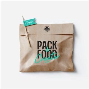 食品包装带牙签牛皮纸熟食包装样机
