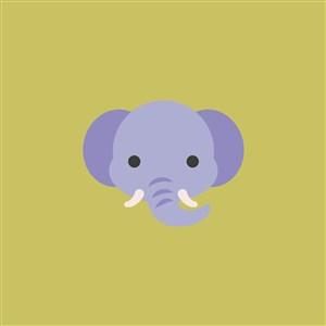 大象图标马戏团logo设计素材