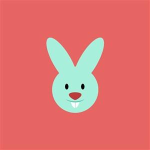 兔子图标糖果店矢量logo素材