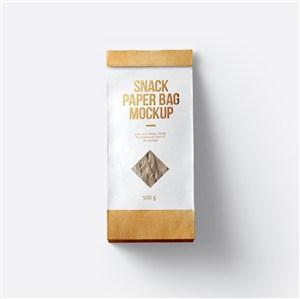 食品包裝小吃紙袋包裝樣機